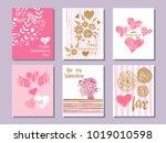 happy  valentine's day. set of...   Shutterstock .eps vector #1019010598
