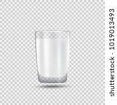 realistic glass of milk.... | Shutterstock .eps vector #1019013493