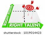 right talent and position... | Shutterstock . vector #1019014423