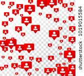 follow icon. notifications with ... | Shutterstock .eps vector #1019015584