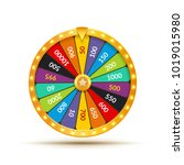 wheel of fortune lottery luck... | Shutterstock .eps vector #1019015980