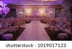 wedding stage decoration | Shutterstock . vector #1019017123