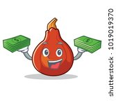 with money red kuri squash... | Shutterstock .eps vector #1019019370