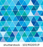 winter blue triangle pattern.... | Shutterstock .eps vector #1019020519