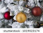 christmas tree decoration on... | Shutterstock . vector #1019023174
