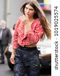 paris october 1  2017. street...   Shutterstock . vector #1019025574