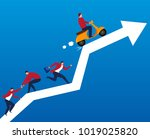 competition on business arrows | Shutterstock .eps vector #1019025820