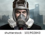Portrait Of A Man In A Polluted ...