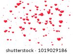 red and pink heart. valentine's ... | Shutterstock . vector #1019029186