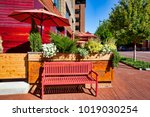 the arena district of columbus  ... | Shutterstock . vector #1019030254