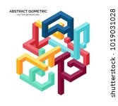abstract geometric isometric... | Shutterstock .eps vector #1019031028