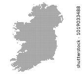 pixel mosaic map of ireland on...