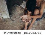 selective soft focus. hands... | Shutterstock . vector #1019033788