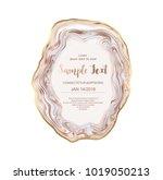 agate slice gemstone background ... | Shutterstock .eps vector #1019050213