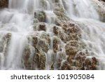 Water fall in spring season - stock photo