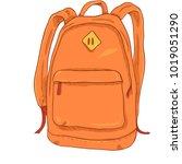 vector single orange cartoon... | Shutterstock .eps vector #1019051290