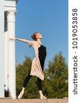 young graceful ballerina...   Shutterstock . vector #1019053858