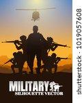 military vector illustration ... | Shutterstock .eps vector #1019057608