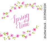 blossom card. spring time text...   Shutterstock .eps vector #1019060104
