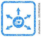 dash coin payout arrows rubber... | Shutterstock .eps vector #1019060356