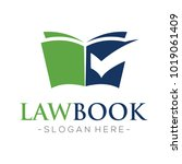 law firm book and tax logo... | Shutterstock .eps vector #1019061409