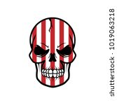 red lines skull vector... | Shutterstock .eps vector #1019063218