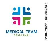 medical logo design template   Shutterstock .eps vector #1019069500