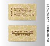 business card ideas for... | Shutterstock .eps vector #1019074789