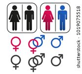 sign of gender male and female | Shutterstock .eps vector #1019075518
