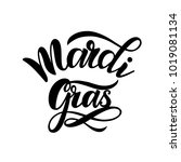 mardi gras carnival lettering.... | Shutterstock .eps vector #1019081134