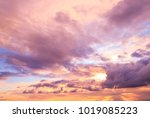 night is coming fiery backdrop  | Shutterstock . vector #1019085223
