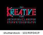 vector of modern shoelace... | Shutterstock .eps vector #1019093419