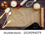 prepare to baking. dough ball... | Shutterstock . vector #1019094079