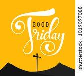 abstract good friday editable... | Shutterstock .eps vector #1019097088