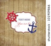 vintage scrap nautical card... | Shutterstock .eps vector #101909866