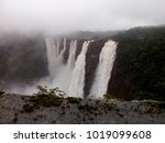 jog falls are located in the... | Shutterstock . vector #1019099608