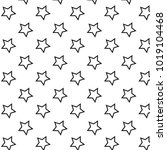 pattern with stars black lines... | Shutterstock .eps vector #1019104468