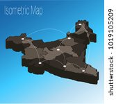 map india isometric concept. 3d ... | Shutterstock .eps vector #1019105209