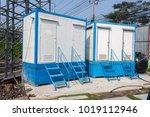 temporary toilet temporary... | Shutterstock . vector #1019112946