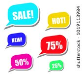 modern sale stickers and tags... | Shutterstock . vector #1019113984
