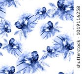 seamless watercolor pattern... | Shutterstock . vector #1019116258