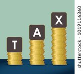 state taxes. tax payment.... | Shutterstock .eps vector #1019116360