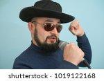 full length portrait of a male... | Shutterstock . vector #1019122168
