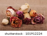 Colorful Dried Roses Over...