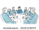 smart businesswoman as... | Shutterstock .eps vector #1019123074