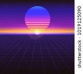 sci fi futuristic abstract... | Shutterstock .eps vector #1019125090