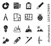 solid black vector icon set  ... | Shutterstock .eps vector #1019129899