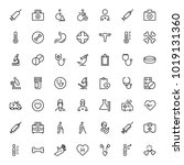 oncology icon set. collection... | Shutterstock .eps vector #1019131360