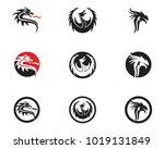 head dragon flat color logo... | Shutterstock .eps vector #1019131849