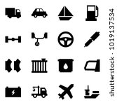 origami style icon set   car... | Shutterstock .eps vector #1019137534